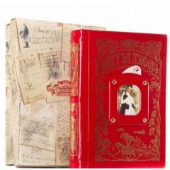 Cовет да любовь книга-альбом (красный) кожа