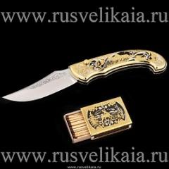 Набор для выживания (спички, нож раскладной) Златоуст, арт. 0030529