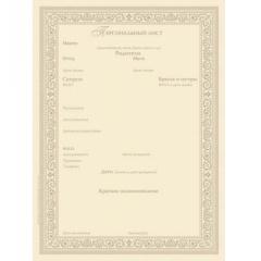 Персональный лист мужской (компьютерное заполнение)